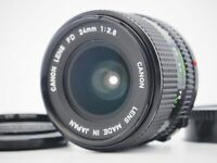 [MINT] Canon New FD NFD 24mm f2.8 MF Wide Angle SLR Film Camera Lens From JAPAN