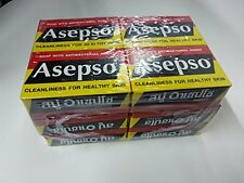 Asepso Antibacterial Agent Soap 80G. Pack of 12 Bar Soaps Bath Body Health