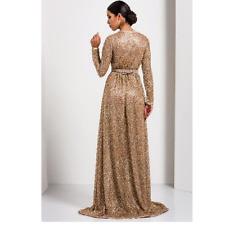 Dubai Wedding Gown Royal MOROCCAN Kaftan Abaya Arabic WOMEN Sequin dress caftan