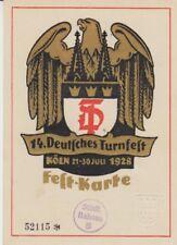 Ansichtskarte Köln   Deutsches Turnfest 1928  Festkarte