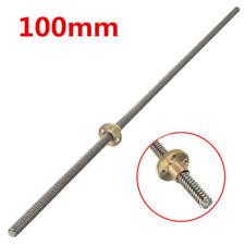 100mm Lead Screw Rod 8mm Thread T Shape Linear Rail Bar Shaft with Flange Brass
