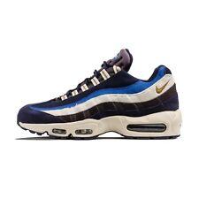 New Nike Men's Air Max 95 Premium Shoes (538416-404) Blackened Blue/Camper Green