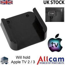 Apple TV Mount Black Bracket Holder (Apple TV 2 / 3)  w/ Accesory Pack, New