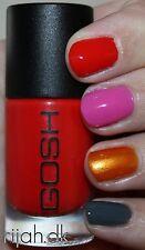 New! GOSH Nail Color Nail Polish HOT CORAL ~ Red-leaning Coral #587