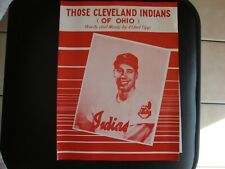 New ListingVintage Old Early Cleveland Indians Song Sheet Music 1954