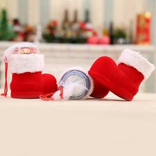 Xmas Santa Claus Boot Shoes Stocking Christmas Decoration Candy Bag Gift Party