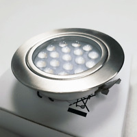 1 x RECESSED TOUCH CONTROL 12V LED SPOTLIGHTS - CHROME FINISH FOR CAMPERVAN