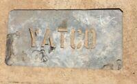 Vintage Metal Sheep Wool Bale Stencil Yatco