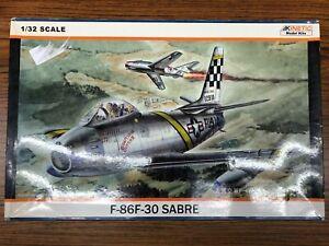 Kinetic Model Kit US Air Force Plane F-86F-30 Sabre 1/32 Scale K3201