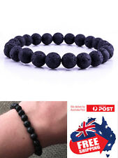 New 8mm Natural Oil Diffuser Chakra Black Lava Bracelet Natural Healing Bead 1pc