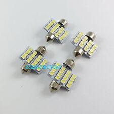 10x  White Dome 3528 16 LED 3528 SMD Festoon Interior Bulb Light 31mm DC 12V New