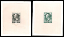 1873 3c NAVY LARGE TRIAL COLOR PROOFS ON INDIA IN GREEN BLACK #O37TC1 approx. 72