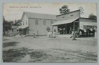 Masonic Hall & Store Belleview Florida Segregation 1915 DB Postcard 8266