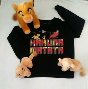 Disney Lion KIng Sweater Large& Plush