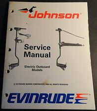 1989 OMC EVINRUDE JOHNSON ELECTRIC MOTOR SERVICE MANUAL P/N 507752  (680)