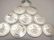 Lot of (10) 1 Gram Silver Prospector Bullion Rounds