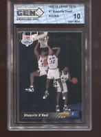 Shaquille O'Neal RC 1992-93 Upper Deck #1 HOF Rookie GEM MINT 10