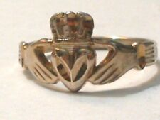 Irish Claddagh  Heart   Sterling Gold Plate Ring   S8