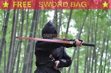 Handmade t10 1095 Red Steel Japanese Sword Ninja Black Japan Katana Sharp S156