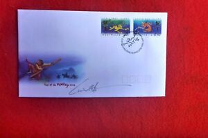 STAMP ARTIST LUIS CHANG HAND SIGNED YEAR OF THE MONKEY FDC CHRISTMAS IS