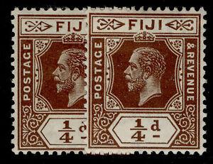 FIJI GV SG125 + 125a, ¼d SHADE VARIEITES, M MINT.