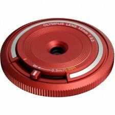 Olympus BCL-1580 Body Cap Lens 15mm F8 RED Free shipping Japan!!