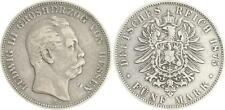 5 Mark Argent 1875 H Hesse Ludwig III. Presque très belle
