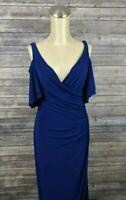 New Lauren Ralph Lauren Women Dress Gown Cold Shoulder Size 6 MSRP $180