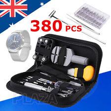 380pcs Watch Repair Tool Kit Watchmaker Back Case Opener Remover Spring Pin Bars