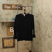 Isaac Mizrahi Live! Womens Pullover Long Sleeve Sweater Black M