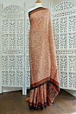 Printed vintage paisley silk sari saree SKU15685 BN