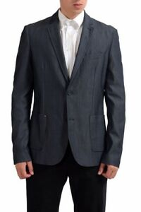 C'N'C National Collection Wool Gray Two Button Men's Blazer US 40 IT 50