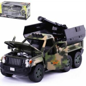 G.Patton 1:32 Scale Diecast Metal Model Car Six-wheeled Military 4x4 SUV Boy Toy