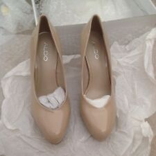 Shoes - patent ladies nude heels size 37 size 4