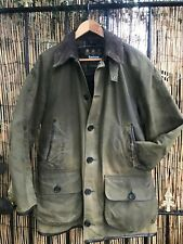 Barbour LONGHURST  olive wax cotton hooded  jacket size Small