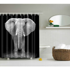 Modern Design Great Fabric Bathroom Shower Curtains Gray Elephant (180x180)