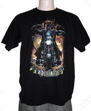 Ned Kelly Outlaw Legend Harley Rider Short Sleeve Black TShirt S, M,L,XL,XXL,3XL