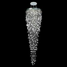 Contemporary Dimming LED Crystal Raindrop Staircase Chandelier Pendant Lighting