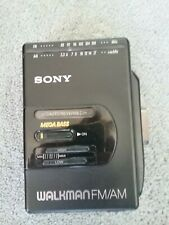 Vintage 1980's Sony Fm/Am Walkman Wm-F2065 Cassette Player Untested