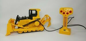 Caterpillar CAT Wired Remote Control Bulldozer Toy State Plastic Works Great