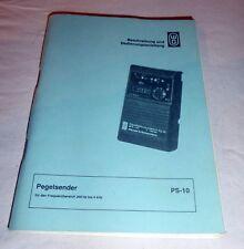 W&G Wandel Goltermann PS-10 Beschreibung und Bedienungsanleitung