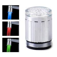 Farbwechsel LED Licht Wasserhahn Wasser Armatur Aufsatz Dekor für Küche