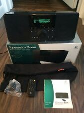 Logitech Squeezebox Boom Network Music Player with all orig. accessories and box