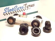 8 pneus pour F1 Carrera  années 60-70