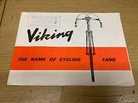 Vintage Viking Bicycle Advertising Flyer Leaflet Brochure