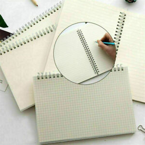 Spiral Coil Book Diary Notebook  A6 Transparent Cover Blank Notepad Kids Gift