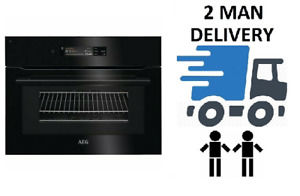 AEG KMK868000B 45cm Connected Black Combination Microwave Oven + 2 Year Warranty