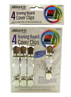 4 X IRONING BOARD COVER CLIPS FASTENERS ELASTIC BRACE STRAPS LAUNDRY HOME