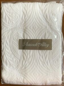 "Peacock Alley Vienna Boudoir Sham White Cotton Quilted 12"" x 16"" New"