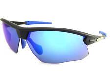 BLOC - FOX sports Sunglasses Matte Black-Blue Rubbers/ blue Mirror Lenses XB761